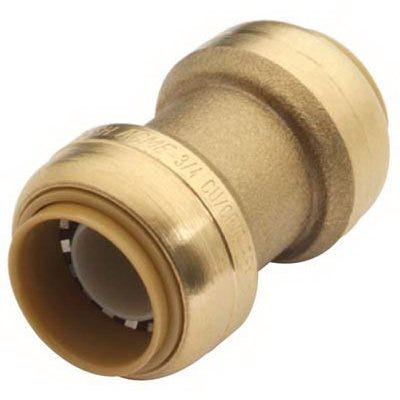 Straight Pipe Coupling, Push Fit, 3/8 x 3/8-In.