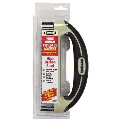 Wire Brush With Scraper Blade, Ergonomic, 8 x 1-1/4-In.