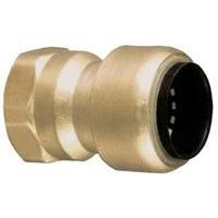Push-On Female Adapter, Low Lead, 3/8 x 1/2-In. Copper x Copper