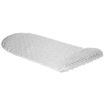 Image of Bath Mat, Bubble, Clear Rubber, 15 x 34-1/2-In.