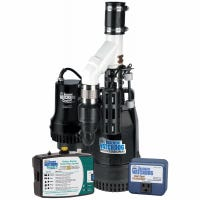 Big Combo Connect Sump Pump System, 1/2 HP, Battery Backup, 24/7 Monitoring, WiFi Capable