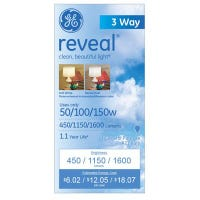 Reveal Light Bulbs, 3-Way, 50/100/150-Watts