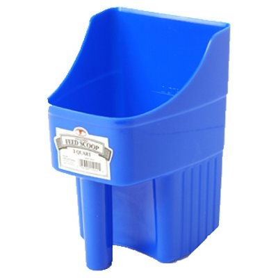 Image of Feed Scoop, Enclosed, Blue Plastic, 3-Qts.