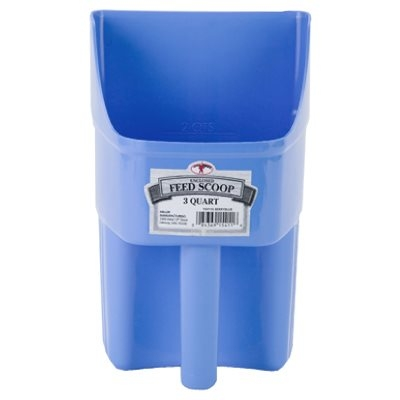 Image of Feed Scoop, Enclosed, Berry Blue Plastic, 3-Qts.