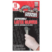 Latex Gloves, Disposable, L, 100-Ct.
