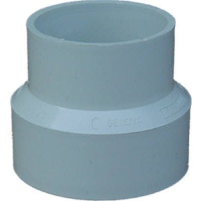 PVC Pipe Sewer Drain Reducing Coupling, 4 x 3-In.