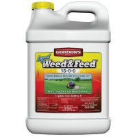 Liquid Weed & Feed, 15-0-0 Formula, Concentrate,  Covers 50,000 Sq. Ft., 2.5-Gallon
