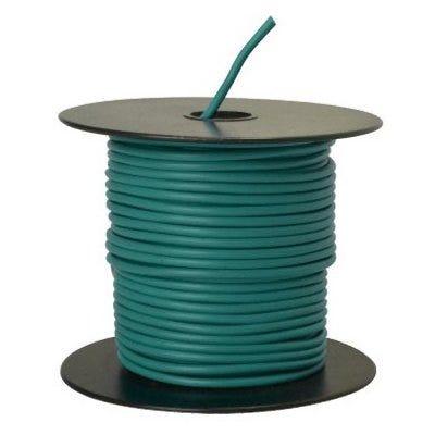 Primary Wire, Green PVC, 14-Ga. Stranded Copper, 100-Ft.