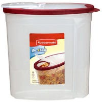 Cereal Keeper, Clear With Red Lid, 1.5-Gal.