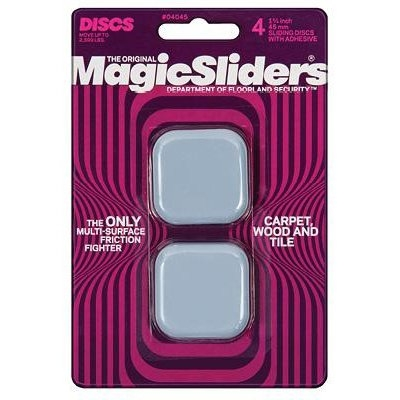 Image of Surface Protectors, Adhesive, 1-3/4-In. Square, 4-Pk.