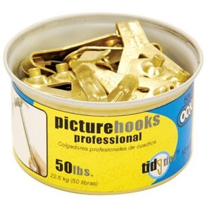 Image of Conventional Hook Tidy Tin, 50-Lb., 10-Pc.