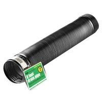 Flex Drain, Expandable, Solid Black Polyethylene, 4-In. x 8-Ft.