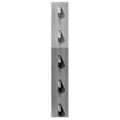 Studded T-Post, 6-1/2-Ft. x 1-1/3-In. Gray