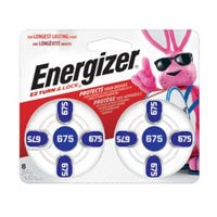 Hearing Aid Batteries, 1.4-Volt Zinc Air, 8-Pack, AZ675BP-8