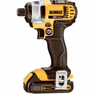 20-Volt Compact Cordless Impact Driver Kit, 1/4-In., 2 Lithium-Ion Batteries