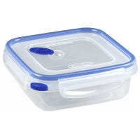 Ultra-Seal Food Container, Square, Clear/Blue, 4-Cups