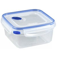 Ultra-Seal Food Container, Square, Clear/Blue, 5.7-Cups