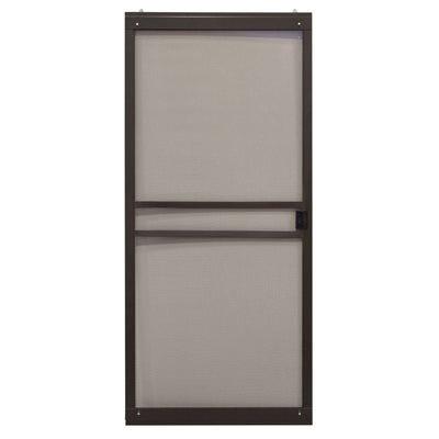 Breezeway Sliding Patio Screen Door, Bronze Steel, Adjustable Height, 36-In. Wide
