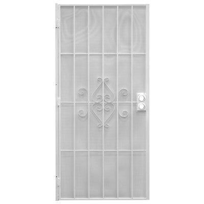 Regal Series Security Door, White Steel, 38.5 x 81.5-In.