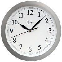 Wall Clock, Quartz, Battery-Operated, White, 10-In.