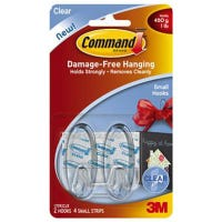 Clear Small Hooks - 2PK