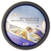 Steering Wheel Cover With Sport Grip, Black/Grey, One Size
