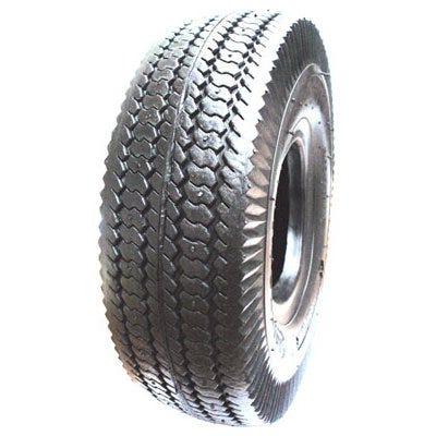 Wheelbarrow Tire, Sawtooth Tread, 4.10/3.50-6 In.