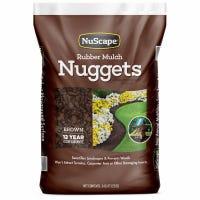 Brown Rubber Nugget Mulch, 0.8-Cu. Ft.