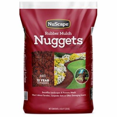 Red Rubber Nugget Mulch, 0.8-Cu. Ft.