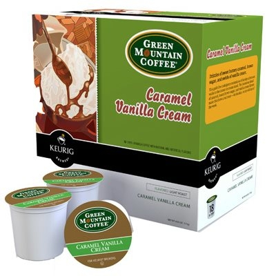 Image of K-Cup For Keurig Coffee Brewers, Caramel Vanilla Cream, 18-Ct.