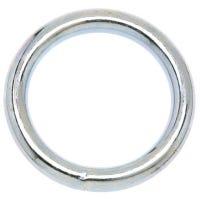 Welded Ring, Zinc Finish, #4, 1-1/4-In.