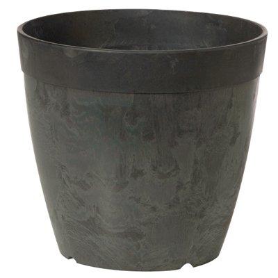 Image of Planter, Water-Minder, Black, 6-In. Round