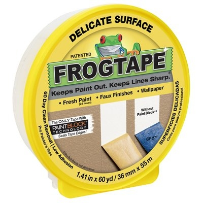 Image of Delicate Surface Yellow Painting Tape, 1.41-In. x 60-Yds.