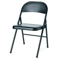 Steel Folding Chair, Black