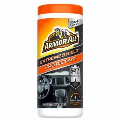 Air Freshening Car Protectant Wipes,New Car Scent, 25-Ct.