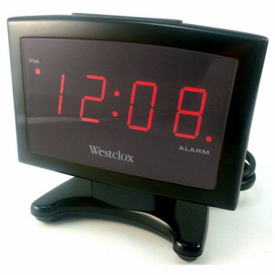 Image of LED Plasma Alarm Clock, Black