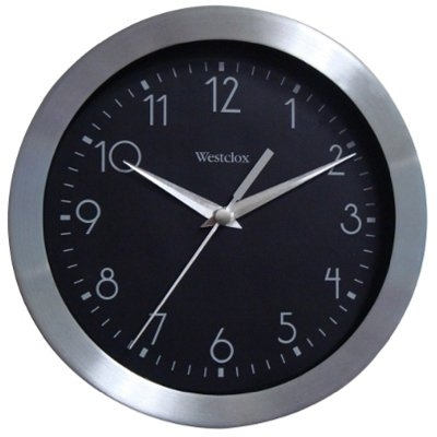 Image of Wall Clock, Black & Silver, 9-In.