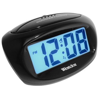 Image of LCD Alarm Clock, Black