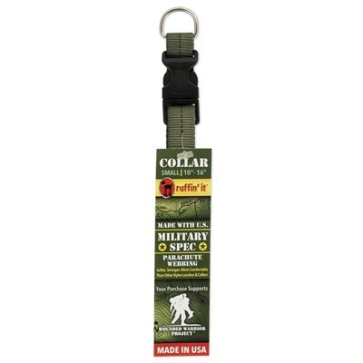 Image of Dog Collar, Green Military Spec, Small