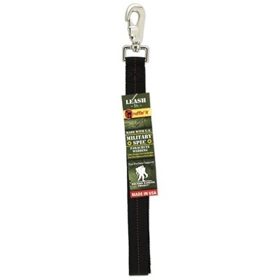 Image of Dog Leash, Black/Red Military Spec, 1-In. x 5-Ft.