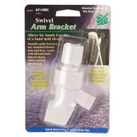 Swivel Shower Arm Mounting Bracket, White