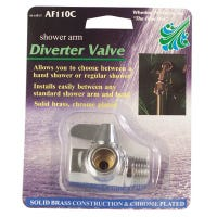 Shower Arm Diverter, Lever Style, Chrome-Plated Brass