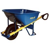 Wheelbarrow, Flat-Free Tire, Blue Steel, 6-Cu. Ft.