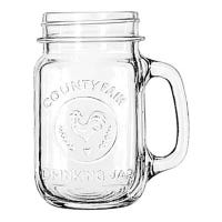 Mason Jar Drinking Glass, 16.5-oz.