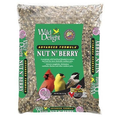 Premium Wild Bird Food, Nut 'N Berry, 5-Lbs.
