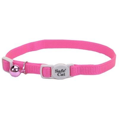 Image of Cat Collar, Adjustable, Pink, 12-In.