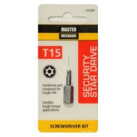 Torx Security Bit, TX15, 1-In.