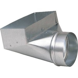 Image of HVAC Galvanized Register Boot, 4 x 10 to 6-In.