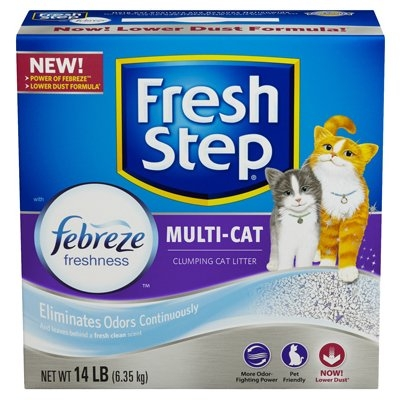 Image of Cat Litter, Multi-Cat Scoopable, Scented, 14-Lbs.