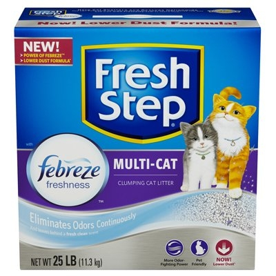 Image of Cat Litter, Multi-Cat Scoopable, Scented, 25-Lbs.